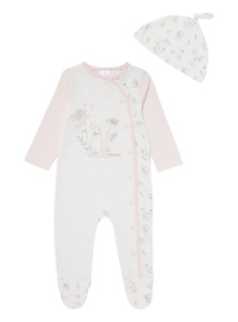 White Peter Rabbit Sleepsuit & Hat Set (0-12 Months)
