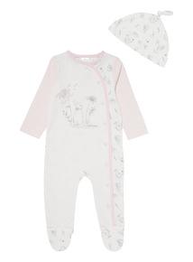 White Peter Rabbit Sleepsuit & Hat Set (0-12 Months)