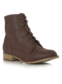 Brown Lace Up Work Boots