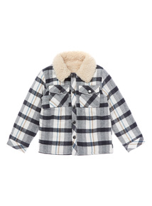 Multicoloured Checked Lined Shirtigan (0-24 months)