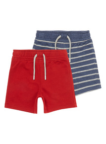 Boys Multi-Coloured Sweatpants Shorts 2-pack (9 months - 6 years)