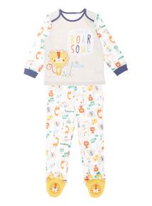 Boys Multicoloured Safari Print Pyjamas (0 - 24 Months)