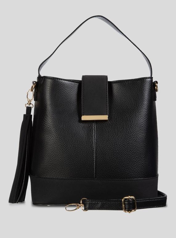 e9cc047c336 SKU: BLACK BUCKET BAG:Black
