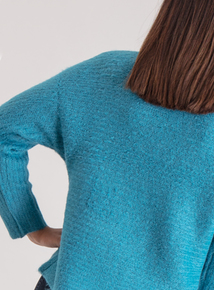 Premium Collection Teal Funnel Neck Jumper