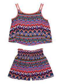 Multicoloured Vest And Shorts Set (3 - 12 years)
