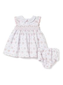 Pink Floral Print Dress and Knicker Set (Newborn-12 months)