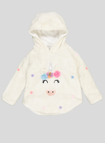 Cream Unicorn Hooded Cape Jumper (9 Months - 6 Years)