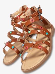 37aab11c163 Brown Gladiator Sandals (10 Infant - 4)
