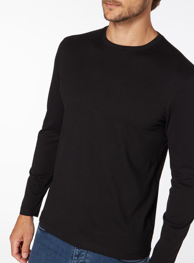 Black Basic Long Sleeve Top