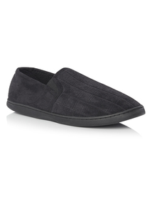 Black Enclosed Memory Foam Slipper