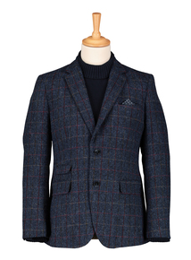Harris Tweed Check Tailored Fit Blazer