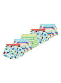 Boys Multicoloured Monster Trunks 5 Pack (2-12 years)