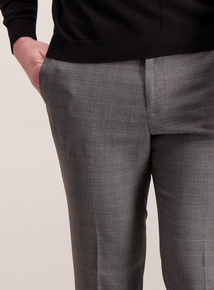 Online Exclusive Grey Check Slim Fit Trousers