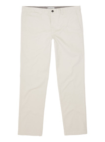 Cream Slim Stretch Chinos