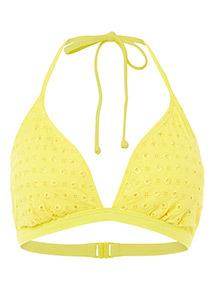 Pointelle Triangle Bikini