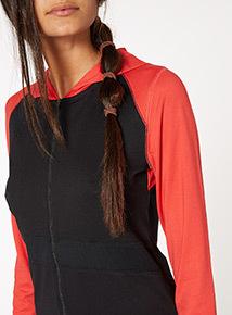 Red Athletic Zip Through Track Hoodie