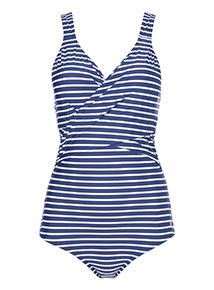 Navy Stripe Secret Shaping Swimsuit