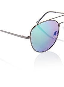 Blue Aviator Sunglasses