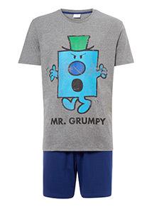 Grey Mr Grumpy Pyjama Set