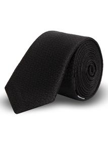 Black Skinny Textured Tie