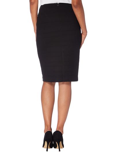 womens black ribbed pencil skirt tu clothing