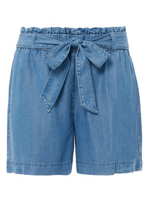 Tencel Belted Shorts
