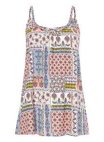Multicoloured Pathwork Print Vest Top