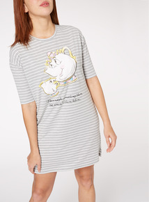 Grey Mrs Potts and Chip Print Nightdress