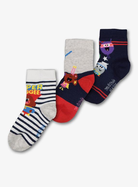 SKU: SS19 DEC/JAN 3PK HEY DUGGEE SOCKS:Multi Coloured