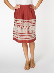 Embroidered Full Skirt