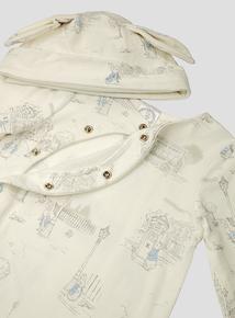 Peter Rabbit Blue Print Sleepsuit and Hat Set (Newborn - 36 months)