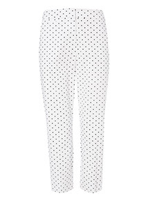 Polka Dot Print Capri Trousers