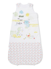 White Farmyard 1.5 Tog Sleep Bag (0-24 months)