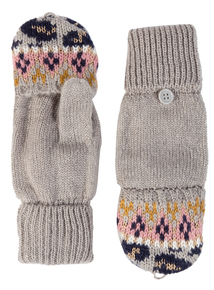 Multicoloured Animal Fairisle Flip Mitt Gloves