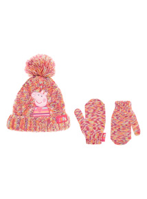 Pink Peppa Pig Hat and Gloves Set (1-6 years)