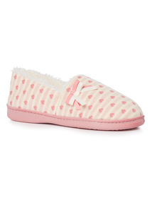 Pink Heart & Stripe Slipper