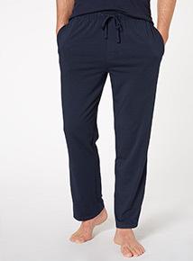 Navy Straight Leg Loungewear Trouser