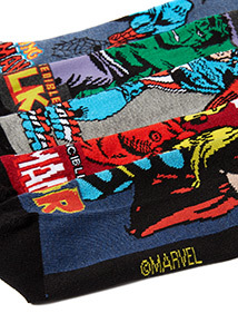 5 Pack Multicoloured Marvel Socks