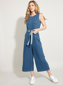 ac81f78ab1 ONLY Denim Cropped Jumpsuit