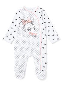 White Minnie Mouse Sleepsuit (Newborn-24 months)