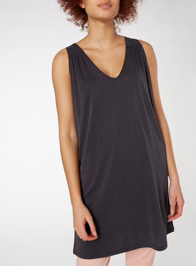 Black Soft Touch Longline Tunic