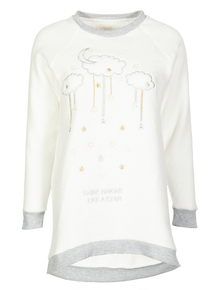 Cream Cloud Print Pyjama Top