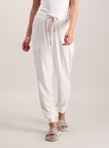Cream Metallic Gold Spot Pyjama Bottoms
