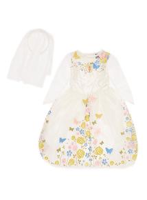 Kids White Cinderella Bride Costume