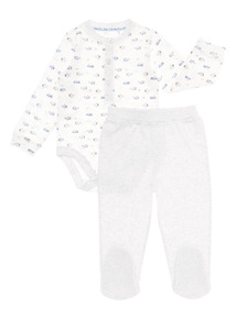 Grey Two Pack Bodysuit and Legging Set (0 - 24 months)