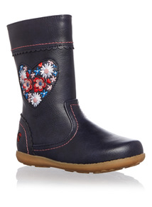 Girls Embroidered Floral Boot