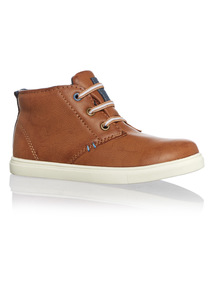 Boys Light Brown High Top Boot