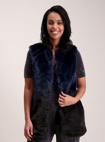 Online Exclusive Navy Ombre Faux Fur Gilet