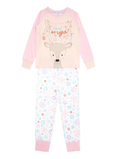 Pink Merry and Bright Christmas Pyjama Set (1-12 years)