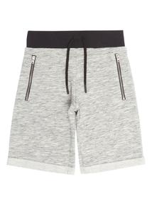 Boys Grey Monochrome Longline Short (3-11 years)